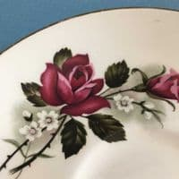 James Kent |  Old Foley | Bowl and Saucer | Red Rose & Daisy | 1950s